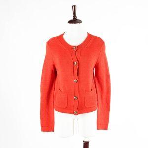 TALBOTS – Stunning Orange Knit Cardigan – Small